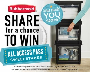 Rubbermaid All Access Organizers Sweepstakes