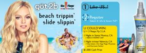 göt2b beach trippin' Slide Slippin' Six Flags Summer Sweepstakes