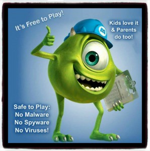 FREE Monsters Inc Game SAFE TO PLAY!