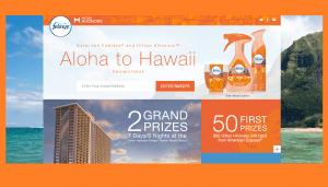 Febreze Aloha to Hawaii Sweepstakes