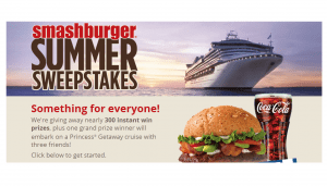 Smashburger Summer Sweepstakes & Instant Win Game