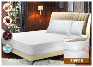 Bed Bug Non-Allergenic Zippered Mattress Encasement with Dust Mite Protection in Sizes Twin-King ONLY $9.99
