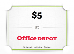 Free $5 Office Depot Gift Card