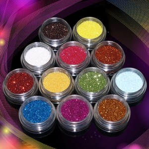 12 Color Nail Crafts Art Glitter Powder Dust AS LOW AS $1.00