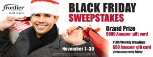 Frontier Communications - Black Friday Sweepstakes