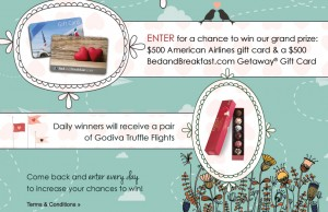 BedandBreakfast.com - Lovebirds Take Flight Sweepstakes