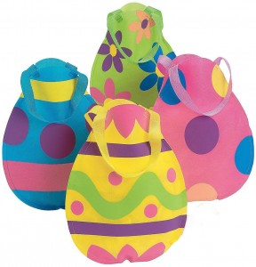 Nylon EASTER EGG Tote Bags