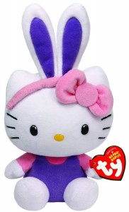 Ty Beanie Babies Hello Kitty with Purple Ears Plush
