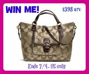 CAMPBELL SIGNATURE IZZY FASHION SATCHEL GIVEAWAY