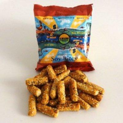 Perfect Healthful Munch Food Crum Creek Mills Soy Bites  @usfg #crumcreek1