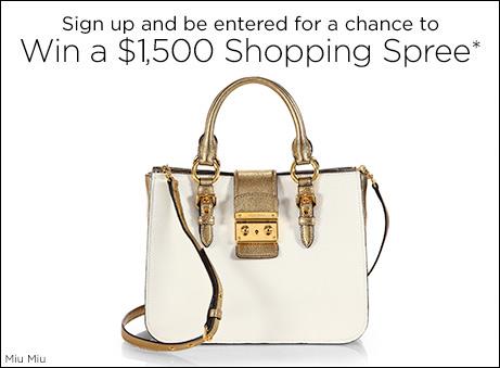 Saks Fifth Avenue $1,500 Shopping Spree Sweepstakes