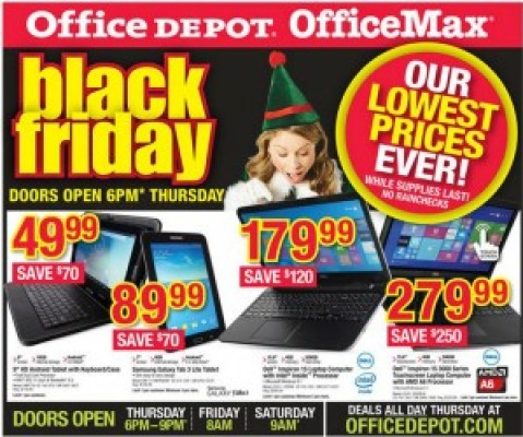 Office Depot #Blackfriday Ad