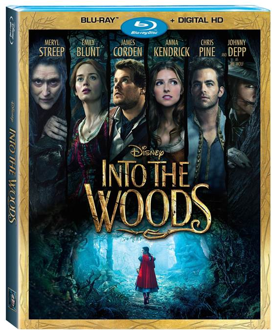 DISNEY'S INTO THE WOODS ON BLU-RAY™ COMBO PACK, DIGITAL HD AND DISNEY MOVIES ANYWHERE