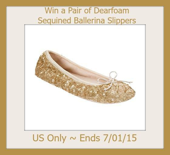 Dearfoam Signature Sequin Ballerina Style Slippers Giveaway3
