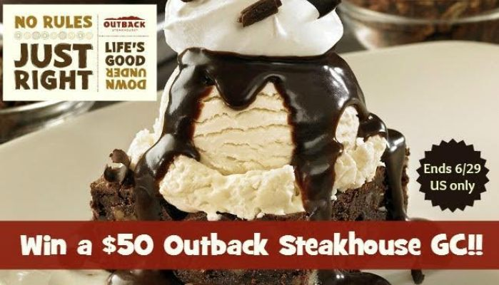 Outback Steakhouse $50 Gift Card Giveaway