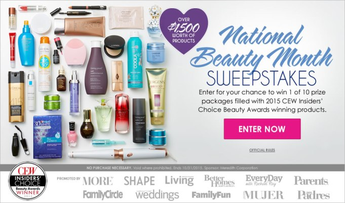 Divine Caroline National Beauty Month Sweepstakes
