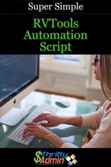 RVTools Automation Script
