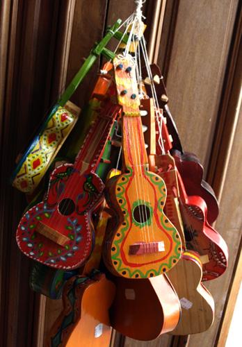 Toy ukuleles for sale Antigua, Guatemala