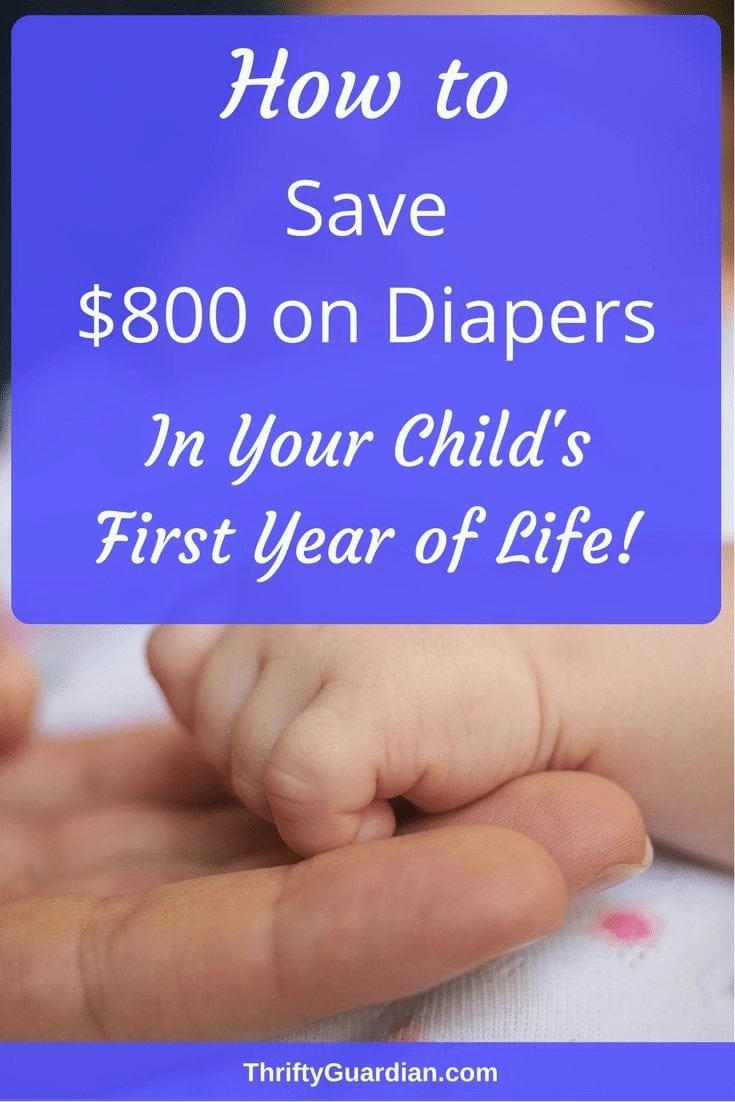 Save money on diapers! How many diapers will your child go through? Save money as a new parent and buy your diapers wisely with these six helpful tips. #diapers #parenting #savemoney #frugal #newbaby #babytips #newborn #thrifty #diapertips