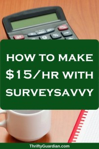 Make $15+/hr with SurveySavvy!