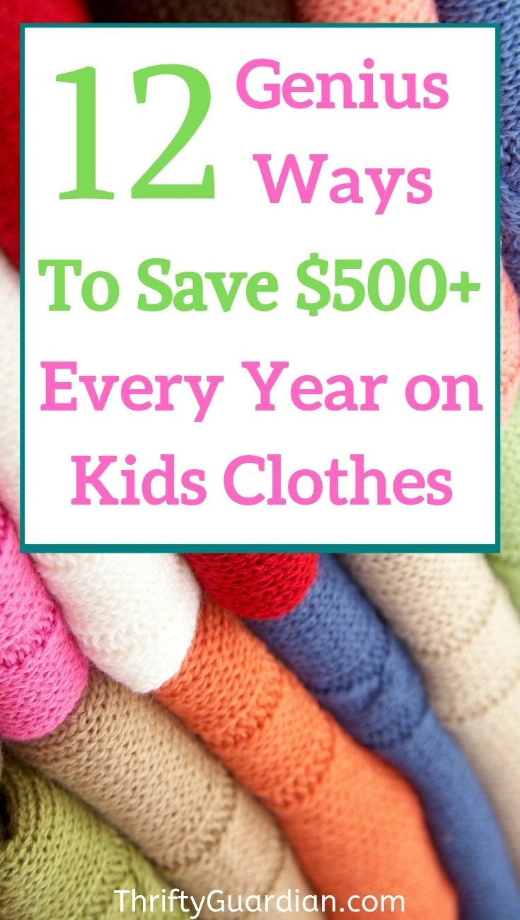 save money on kids clothes