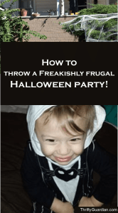 How to throw a great Halloween party for less than $50! Frugal Halloween, cheap Halloween, Halloween party ideas, Halloween treats