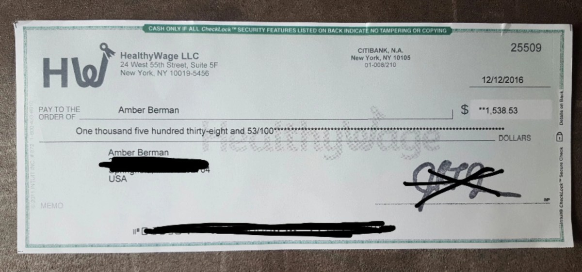 HealthyWage Check proof of payment