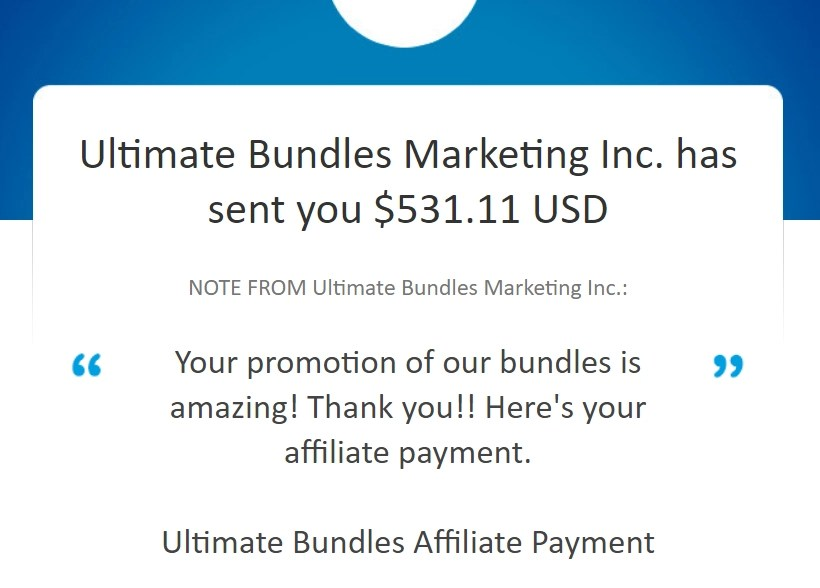 ultimate bundles proof of payment