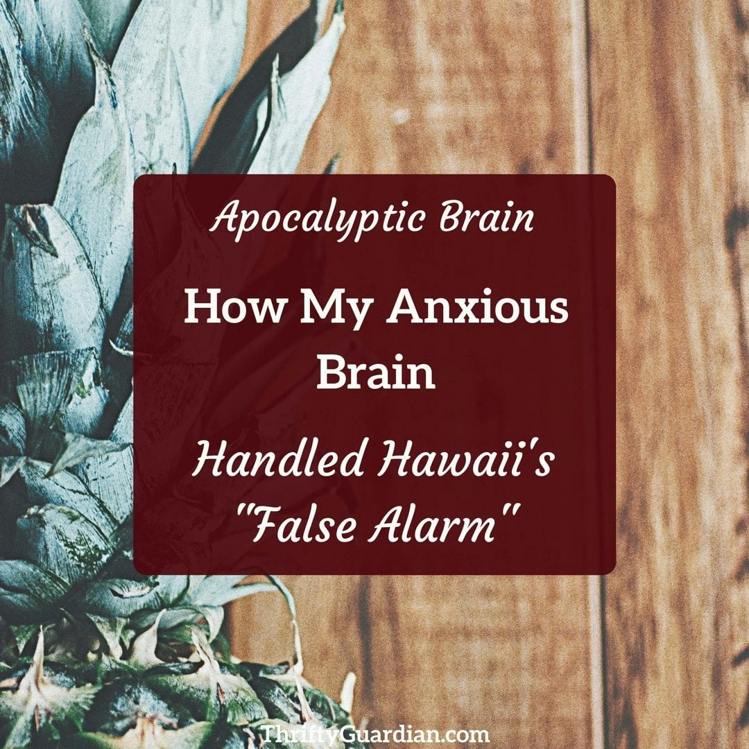 Apocalyptic Brain: My Response to Hawaii's False Alarm