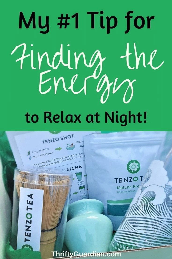 Tenzo Tea Review - Too tired to relax? Try some matcha! Matcha will help keep you going throughout the day without leaving you jittery or crashed out at night. #tenzotea #matcha #parenting #greentea #allnatural #review