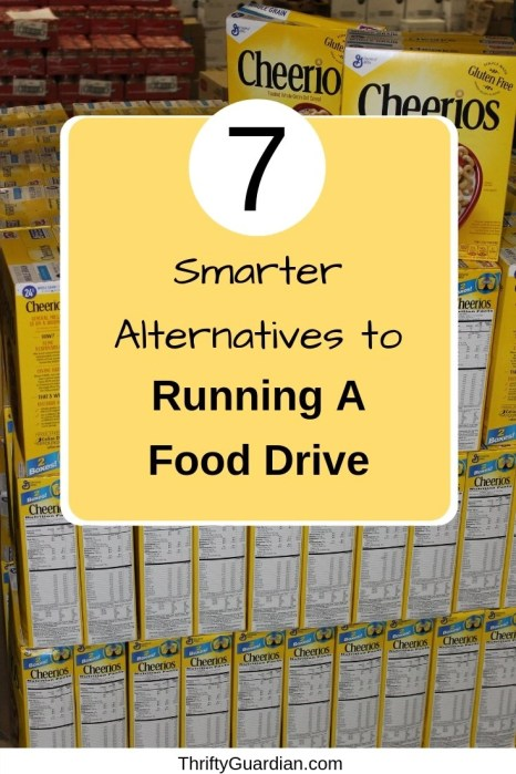 Easy fundraiser ideas that are a great alternative to food drives. Why you should donate money instead of food!