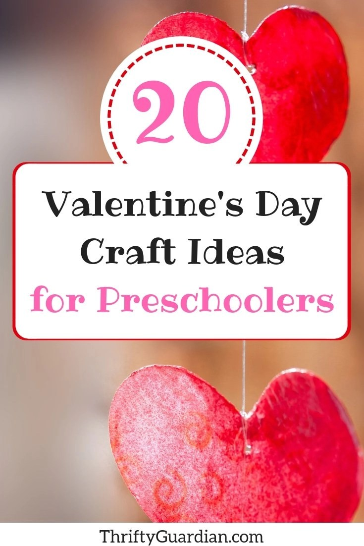 Valentine's Day craft ideas for preschoolers, including STEM and sensory play, to DIY at home or for gift ideas for mom and dad.