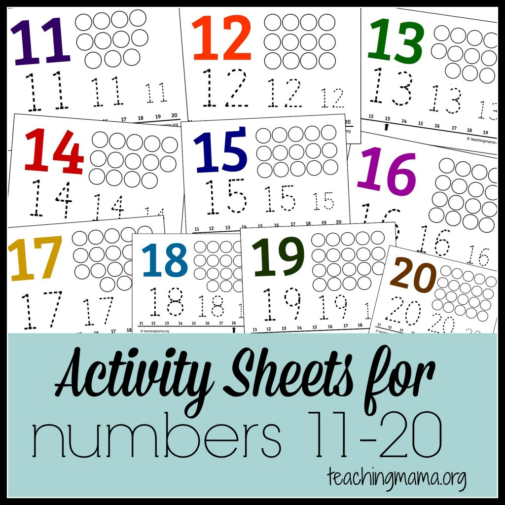 Free Activity Sheets For Numbers 11 20