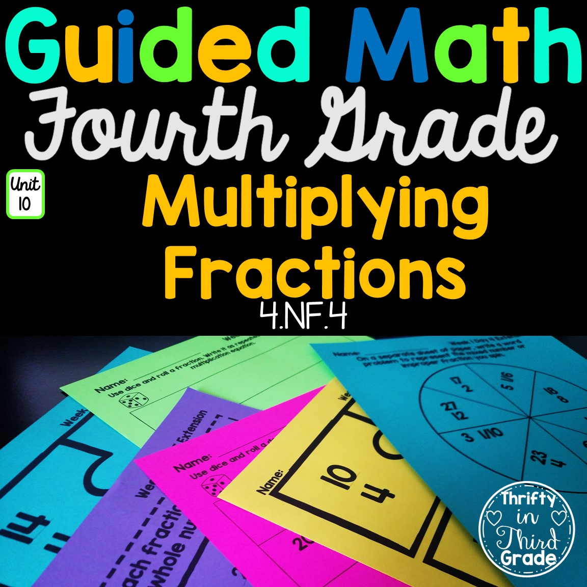 4th Grade Guided Math Unit 10 Multiplying Fractions