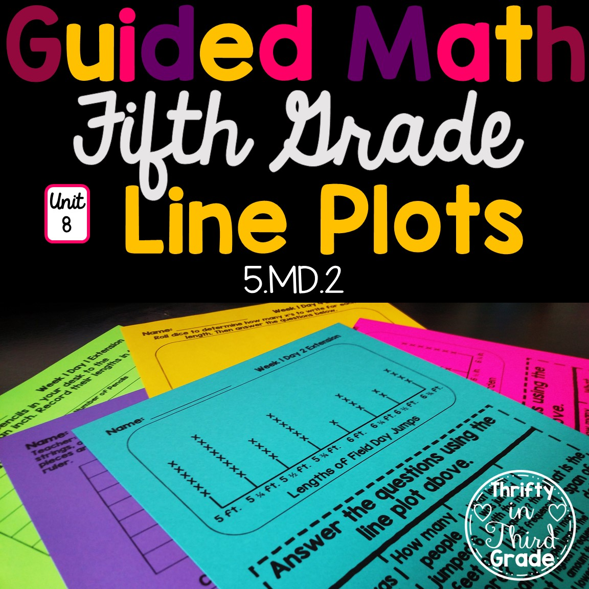 5th Grade Guided Math Unit 8 Line Plots
