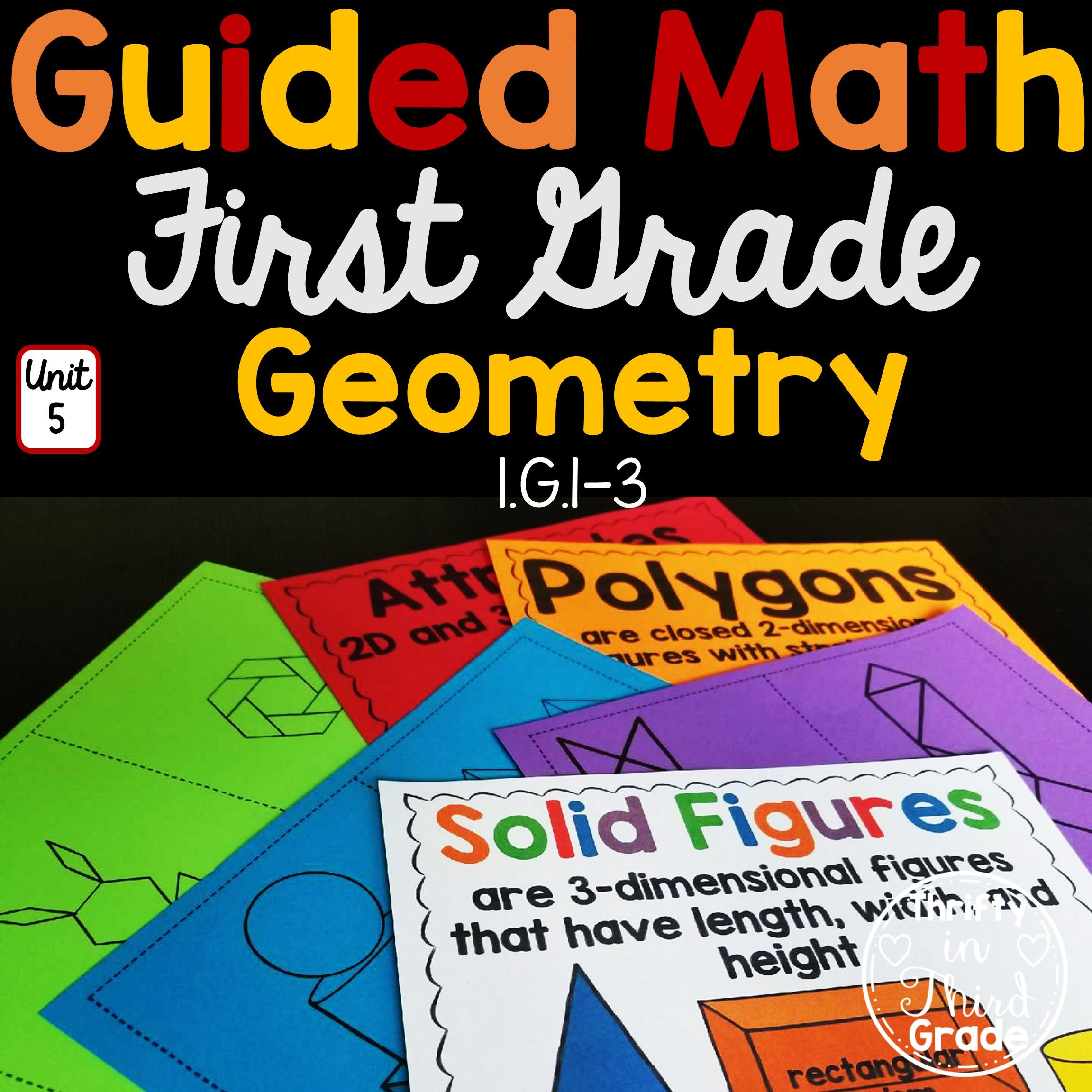 1st Grade Guided Math Unit 5 Geometry