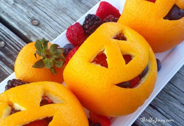 Fruit Jack-O-Lanterns