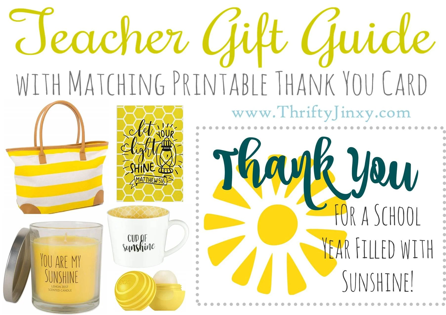 Teacher Sunshine T Guide Free Printable Teacher
