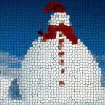 snowman (2) mosaic