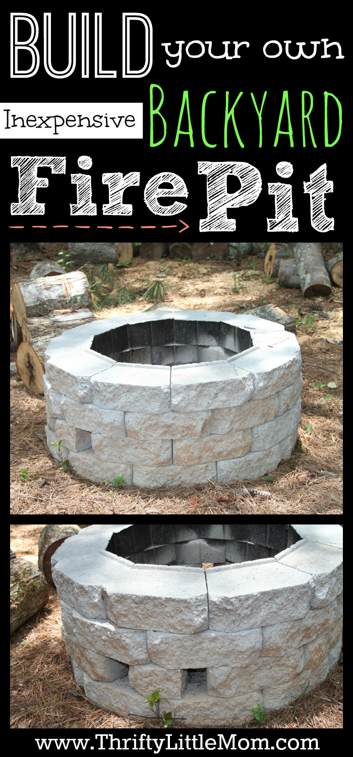 Easy DIY Inexpensive Firepit for Backyard Fun » Thrifty ... on Building Your Own Outdoor Fireplace id=24750