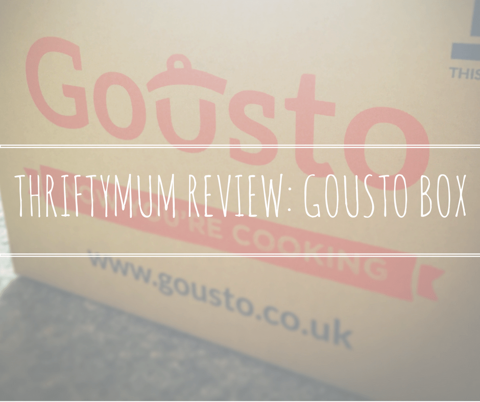 GOUSTO BOX REVIEW