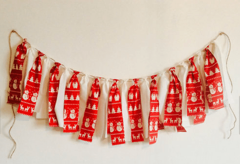 little walrus xmas garland