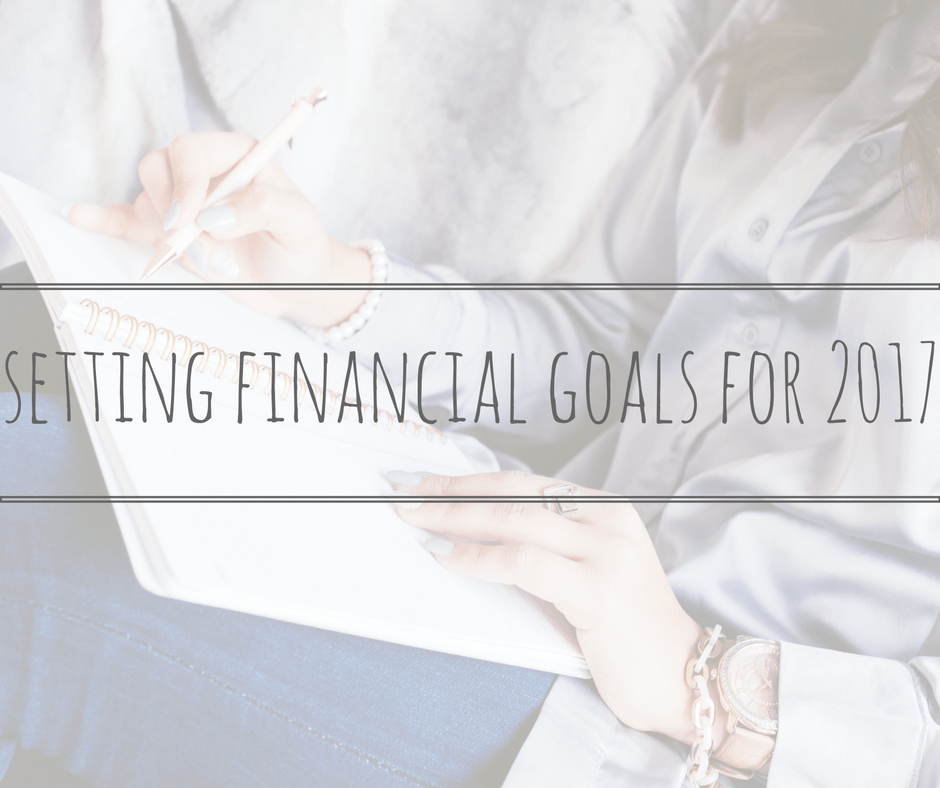 setting financial goals for 2017