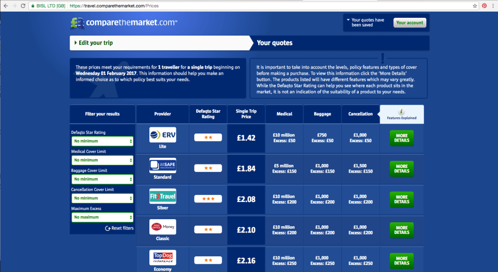 how to get 2 for 1 cinema tickets for a year for less compare the market quotes for travel insurance