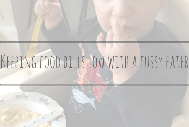 Keeping food bills low with a fussy eater
