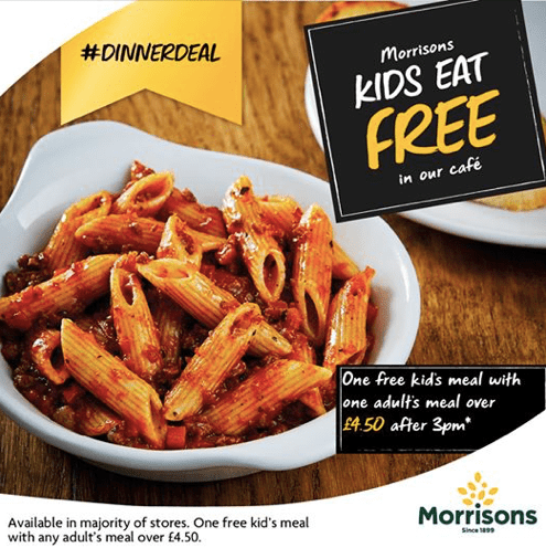 kids eat free or £1 in Hull