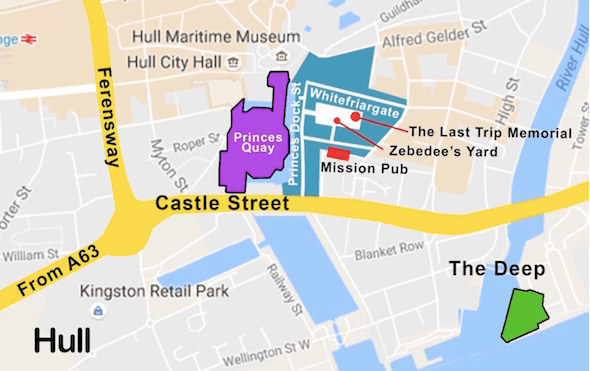 weekend in hull map