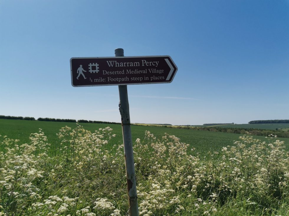 Abandoned Medieval Village of Wharram Percy near Malton