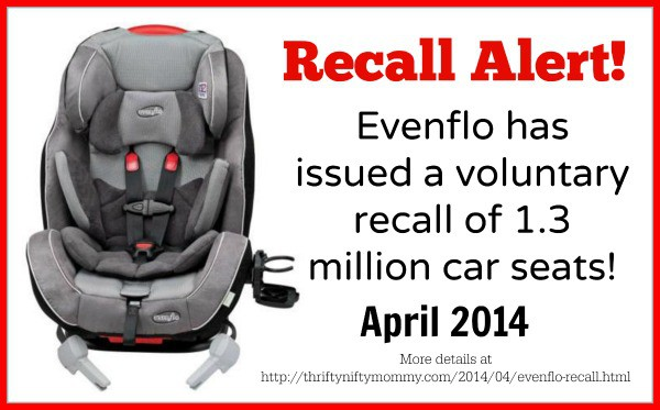 evenflo car seat recall affecting over 1 million car seats thrifty nifty mommy. Black Bedroom Furniture Sets. Home Design Ideas