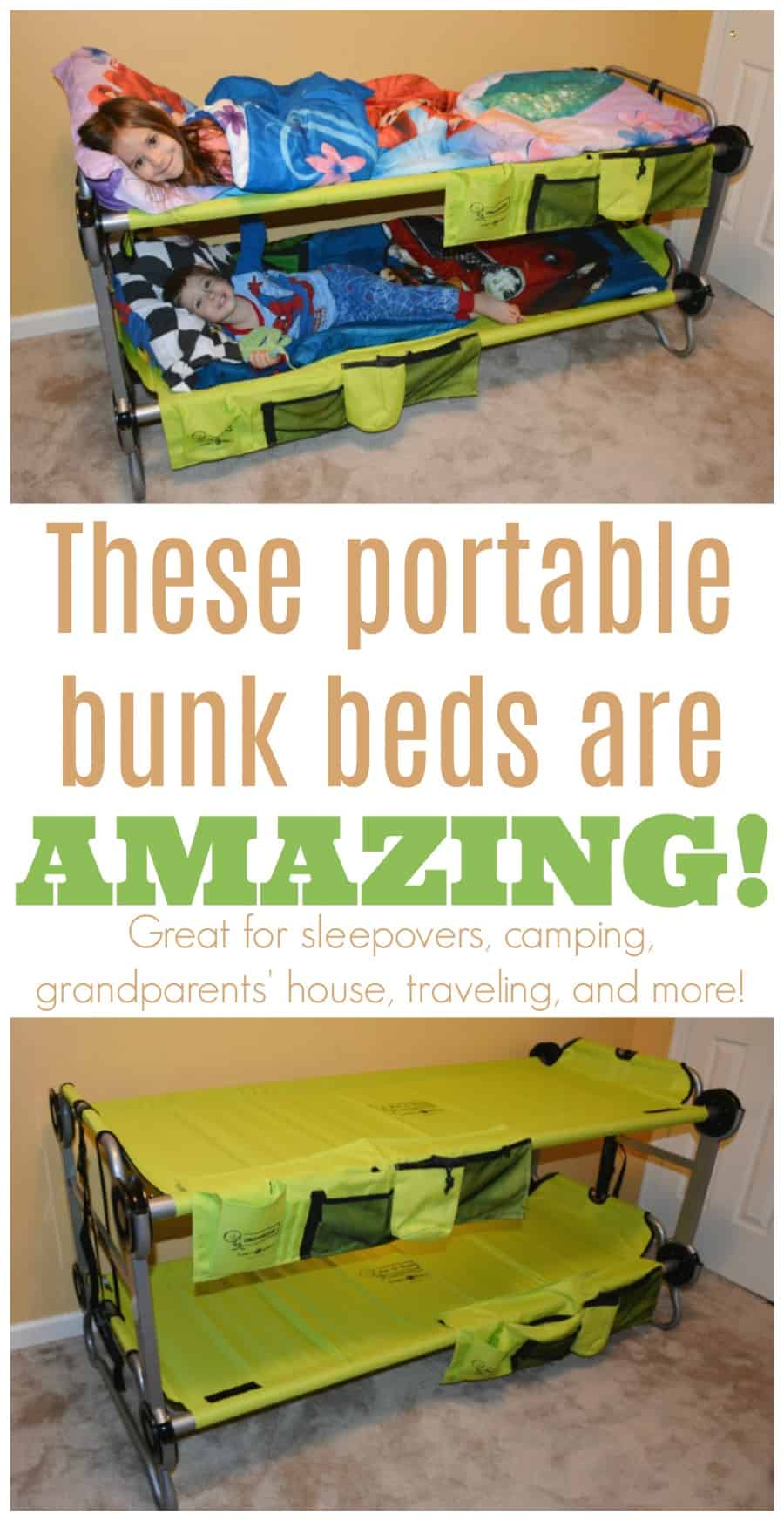 These portable bunk beds are amazing!